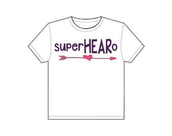 Girls superHEARo Shirt