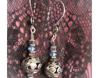 Sterling silver handmade earrings