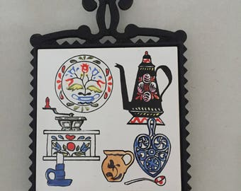 Cast Iron Trivet, Ceramic Trivet, Japanes kKitchen Decor