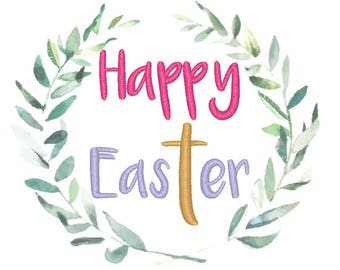 Happy Easter Machine Embroidery Design