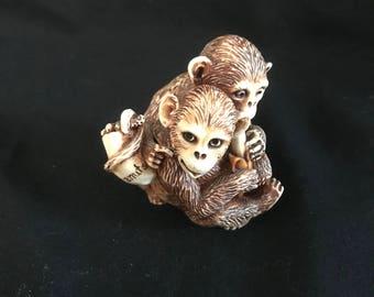 """SIAB """"England Monkeys""""  trinket box"""