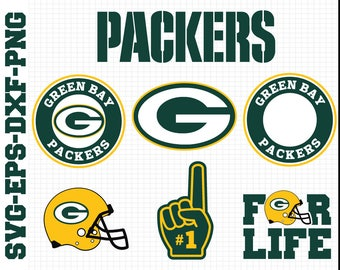 Green Bay Packers Svg, cut files, print files, clipart, vector, T-shirt design, football logo, circut, silhouette cameo