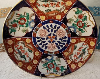 Gold Imari charger plate