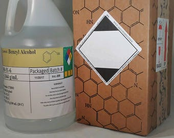 Benzyl Alcohol (99+%), Different sizes 30mL to 1 Gallon