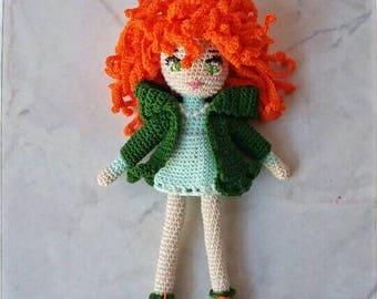 """Mini doll-Lucky charm crochet """""""", """"(16 cm)"""