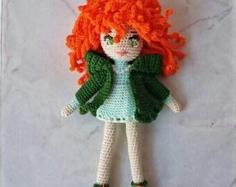 "Doll-lucky charm with ""a"" (16 cm) crochet"