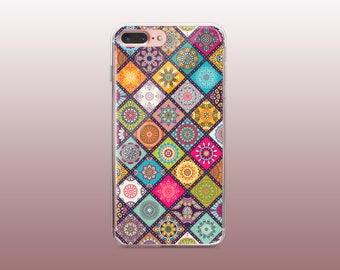 Mandala Clear TPU Phone Case for iPhone 8- iPhone 8 Plus - iPhone X - iPhone 7 Plus-iPhone 7- iPhone 6 - iPhone 6S - iPhone SE - Samsung S8