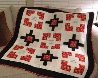 Real Housewives of Atlanta Quilt Blanket Peaches & Classic Lines RHOA