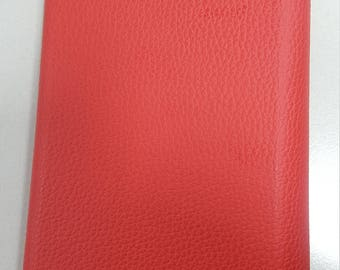 Red leather diary 2018