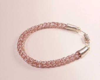 Pale Pink Viking Knit Bracelet