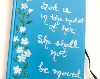 Customizable Hardcover hand painted Journal