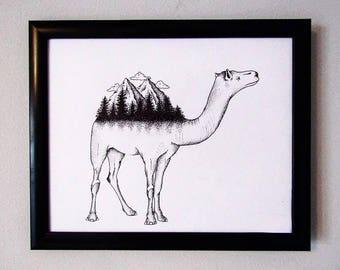 Surreal Camel Linework