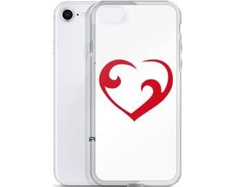 Watercolor Heart Phone Case iPhone X Case iPhone 7 Plus Case iPhone 8 Case