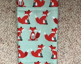 Reusable Cotton Beeswax Food Wrap Mint Green Fox Orange Small 20cm x 20cm Eco Friendly Natural Living