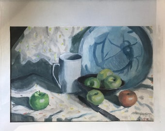 Apples and Plate