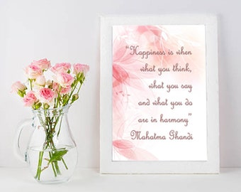 Custom Quote Printable Poster, Typography Printable Poster 8x10, Downloadable, Digital File, inspirational quote, office décor, Ghandi quote