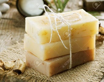 Honey, lavender, and goats milk soap