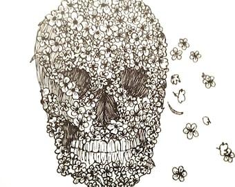 Flower Skull Artwork