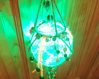 Boho Hanging Forest Lantern Light