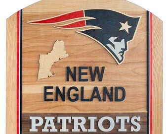 Handcrafted 3D Man Cave Art - New England Patriots