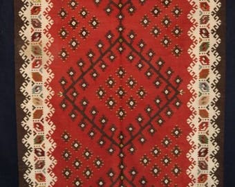 Antique Turkish Sharkoy Kilim, Classic Design, Circa 1920.