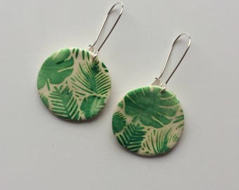 Earrings Fimo 'floral '.