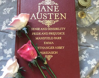 Vintage Jane Austen Collection Book, Sense and Sensibility, Pride and Prejudice, Mansfield Park, Emma, Northanger Abbey, Persuasion