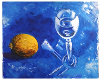 oil painting. contemporary still life