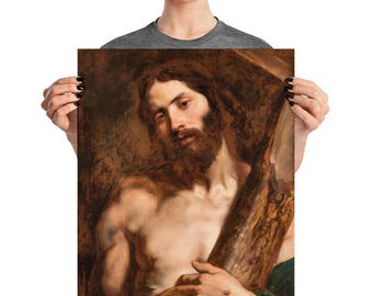 Christian gifts - Christ carrying the Cross by Van Dyck - museum quality poster - religious prints - Jesus