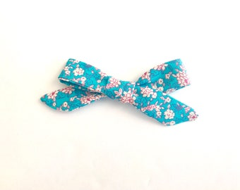 Hand-tied Bow - Cherry Blossom Bow - Baby Blue