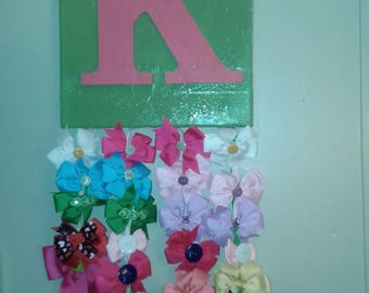Letter Canvas Hairbow Holder