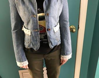 Up-cycled denim jacket