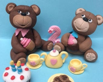 Teddy Bears Picnic edible cake toppers