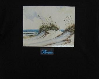 Florida Beach Sand Dunes and Gulf