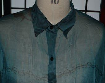 vintage silk blouse Size 10