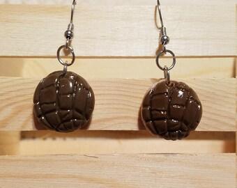 Chocolate Concha Earrings