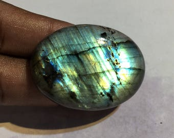 91.1 Cts 100% Natural Medagascar's Labradorite Cabochon Multi Fire Polished Cabochon Healing Quartz Oval Shape 42x31x8 mm N#782-53