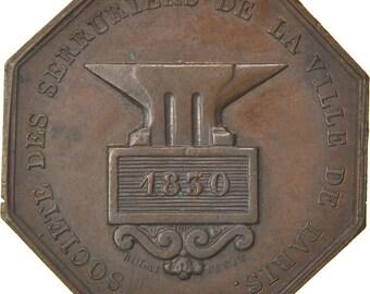 france industry token 1830 au(55-58) rogat copper 13.98