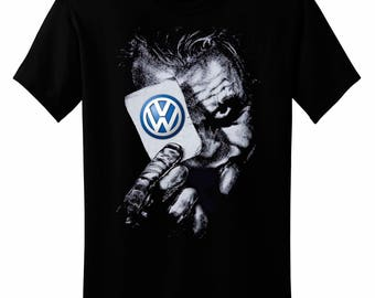 Joker VW Logo Car BATMAN T-shirt Hand Drawn Design Best For Gift Made by Kornit Printer