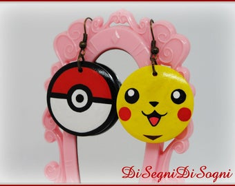 Pokemon PIKACHU Earrings-hand Painted