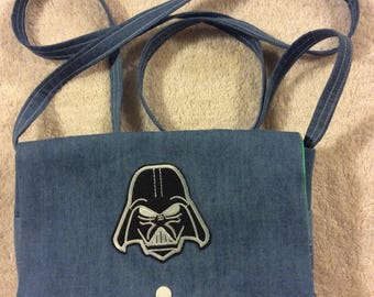Darth Vader Denim Over the Shoulder Purse