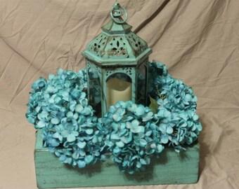 Farmhouse Decor flower box with birdhouse,Rustic,distressed