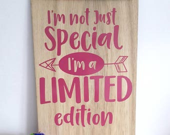 A wooden plaque to brighten your home. Humour plaque for a special gift.