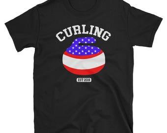 Team USA Curling T-Shirt, Winter Olympics, 2018 Winter Olympics, Pyeongchang, South Korea, Olympic Apparel, Winter Games