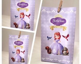 Sophia the first digital printable bag, favor bag, party bag