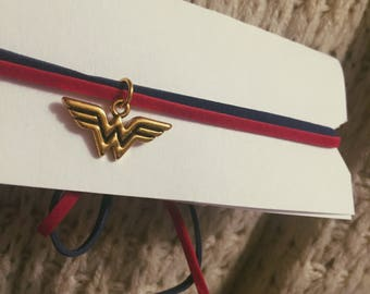 Double Stranded Wonder Woman choker necklace