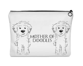 Mother Of Doodles - Carry All Pouch  Flat (two sizes) GoldenDoodle / Labradoodle/ Golden Doodle