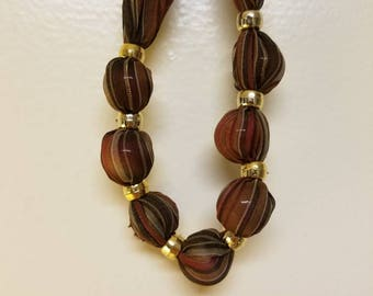 Bead Cloth Necklace