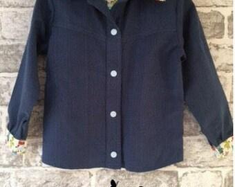 Boy's long sleeved 100% cotton robot trim shirt - Age 4