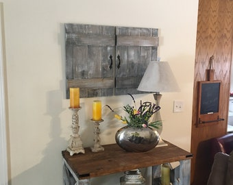Barnwood Shutters, Rustic Antique shutters, Reclaimed Wood Shutters, Barn Doors